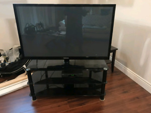 55 inch plasma Samsung TV with stand