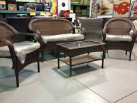 VARIOUS OUTDOOR CONVERSATION SETS AND BISTRO SETS!