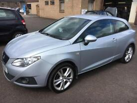 2009 Seat Ibiza 1.4 16v 85 Sport Coupe Sport Grey 3 Door 64488mls MOT 12m