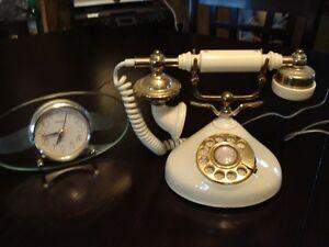 Vieux Téléphone et cadrant,