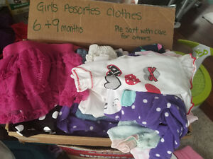 Assorted as is baby girl clothing