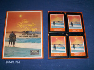 THE ROMANTIC STRINGS-READER'S DIGEST SET OF 4 STEREO 8 TRACK!