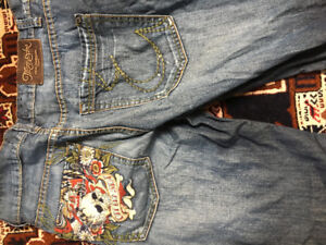 5 pairs of designer jeans all size 32 32 for men