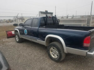 For Sale As Is - 2001 Dodge Dakota with Snow Plow