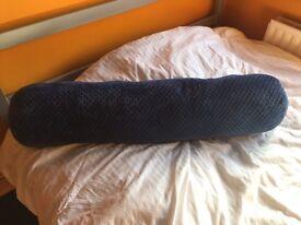 Long blue cushion