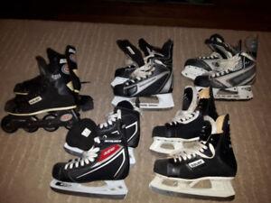 Boys hockey skates/rollerblades