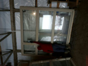 5 large vinyl windows
