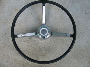 1967 Chevelle Original Black Steering Wheel, very nice condition