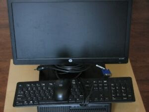 "HP ProDesk i5-6500 SFF Desktop and HP 19"" Monitor"