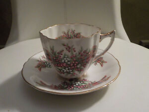 VTG. WINDSOR FINE BONE CHINA CUP & SAUCER TARTAN PATTERN