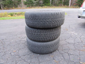 winter tires with 5 bolt Dodge rims, 225 60 R 16, one is in goo