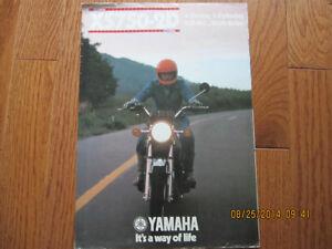 Yamaha XS750-2D Spec Pamphlet Sarnia Sarnia Area image 1
