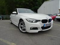 2013 BMW 318D M SPORT WHITE+NO DEPOSIT FINANCE £230+CAR PRICE £10990