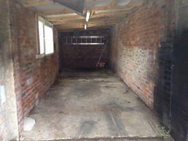 Garage for rent.