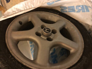 205/65/16 high tread tires with Honda 4x100 rims