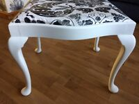 Large foot dressing table stool