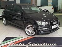 2013 Audi A1 1.4 TFSI S line Sportback S Tronic 5dr Petrol black Semi Auto