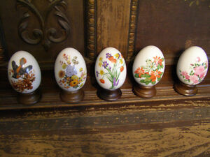 Collection of Avon Porcelain Eggs