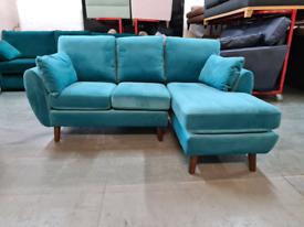 Brand New Next Wilson Corner Chaise - Right Hand Jade RRP £1325