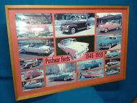Vintage Ford and Pontiac Prints ~ Great car guy gifts