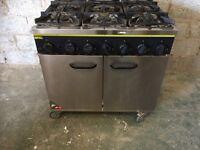 6 burnners. Commercial cooker