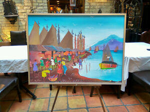 Original   Port   Framed Painting   Picture London Ontario image 1