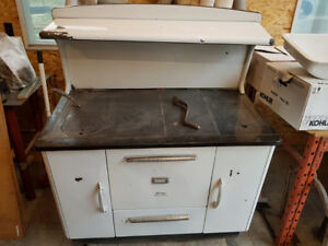 Antique McClary wood cookstove.