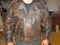 100% MOOSE HIDE HAND CRAFTED BIKER STYLE JACKETS