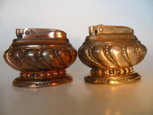Table Lighters, Ronson, Crown Silver and Copper