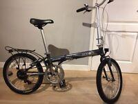 Dahon unisex folding bike in black with 20in wheels