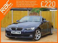 2007 BMW 3 Series 330i SE Convertible 6 Speed Auto Electric Hard Top Full Leathe