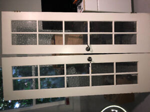 French doors with hardware for Sale