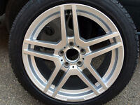 4 Michelin winter tires on Mercedes wheels, over 90% tread