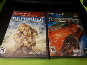 Sealed ps2 Need for speed underground & final fantasy 12