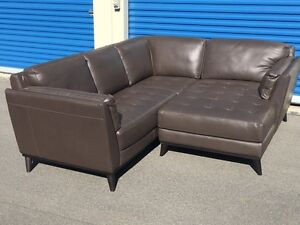 Brand new Brown Italsofa Sectional - 100% Italian Leather