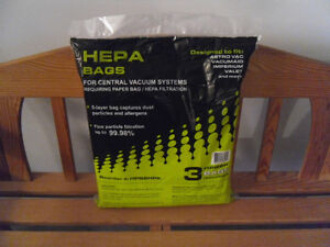 NEW HEPA BAGS FOR CENTRAL VACUUM SYSTEMS FOR SALE West Island Greater Montréal image 1