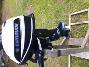 Evinrude 6hp pied court a bras