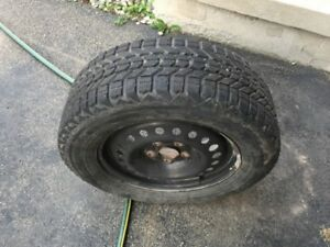 225/60/R16 winter tires on the wheel $300 or best offer