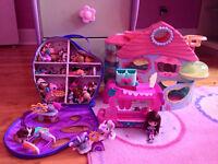 Jouets divers (barbie, pet shop, fraisinette, built a bear