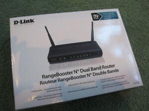 D-Link DIR628 Router Dual Band N+ In Original Box Used.