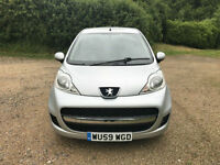 2009 Peugeot 107 1.0 12v Urban one owner only 42463 miles from new f/s/h