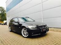 2005 55 reg BMW 330d M Sport Touring + Estate Black + Black Leather + SAT NAV