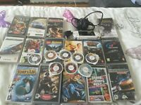 Psp, charger and 24 games/films!!