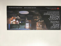 Air Canada Maple Leaf Lounge 4 passes w 2021 validity