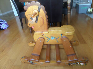 Real Wood Antique Rocking Horse