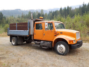 1994 International Crew Cab Single Axle Dump Truck