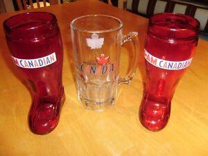 MOLSON CANADIAN BEER MUGS AND GLASSES