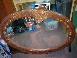 Antique Carved Solid Wood Oval Mirror - Beautiful St. John's Newfoundland image 1