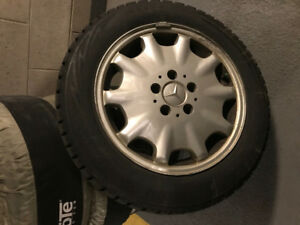 16 inch winter tires on alloy rims  215/55R16  Bridgestones