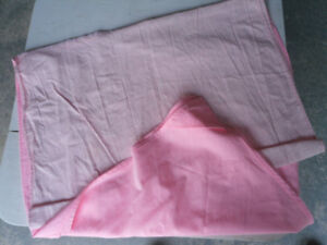 APPROXIMATELY 8~10 PAIRS OF PINK CURTAINS